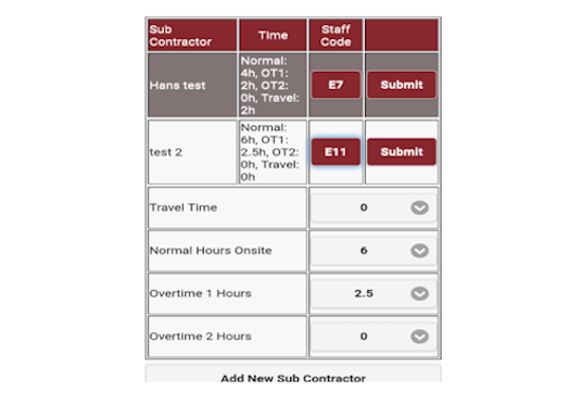 Timesheets Construction industry