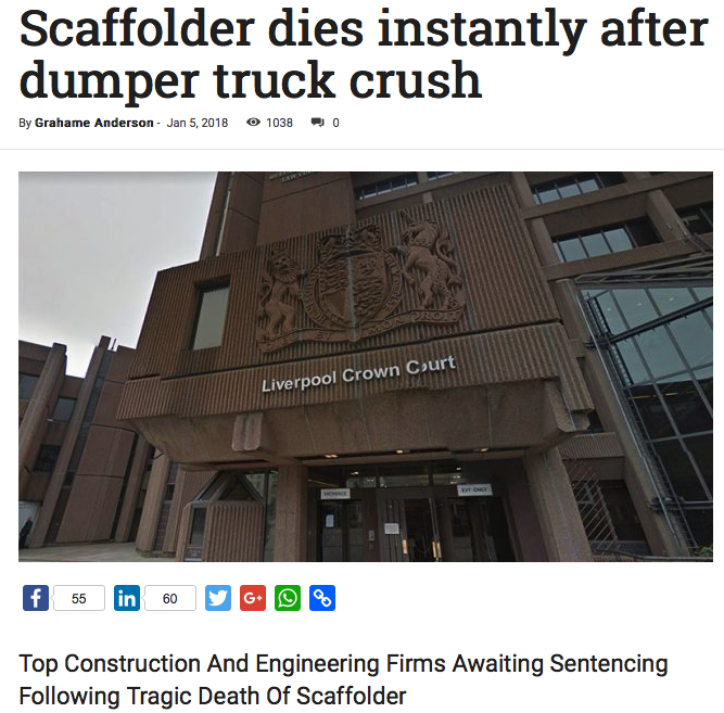 UK Construction tragic headlines